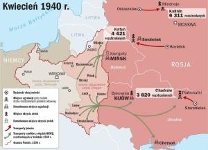 mapa Katyn