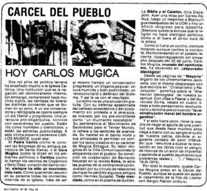 MONTONEROS CONDENA AL PADRE MUGICA (2)