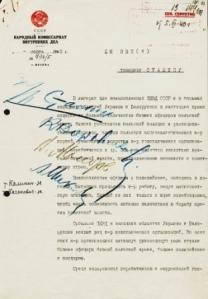 Nota Firmada por Stalin