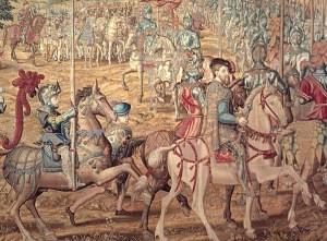 Tapiz_II__Detalle_lateral_izquierdobrevista de tropas en brcelona