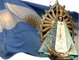 Nuestra Señora de Luján y la Bandera Nacional